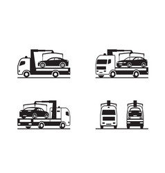 roadside assistance truck with car vector image