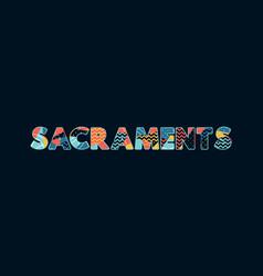 Sacraments concept word art vector