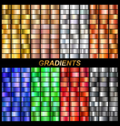 set of gradients vector image