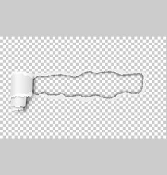 snatched hole with torn edges and paper curl vector image