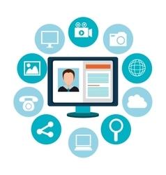 Social media and digital marketing vector