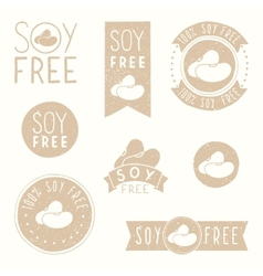 Soy free badges vector image