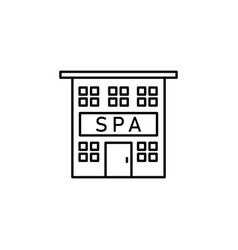spa building outline icon signs and symbols can vector image