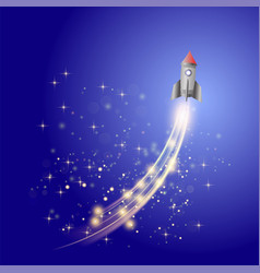 space rocket launching spacecraft vector image