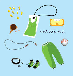 sports clothes pattern vector image