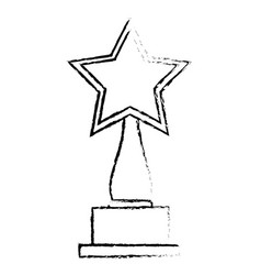 Star trophy award icon vector
