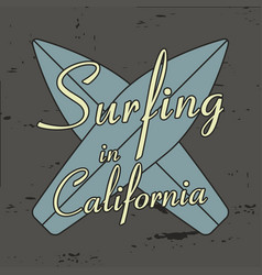 surfing in california vector image
