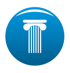 Top column icon blue vector