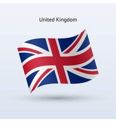 United Kingdom flag waving form vector