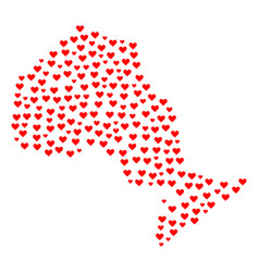 Valentine mosaic map of ontario province vector