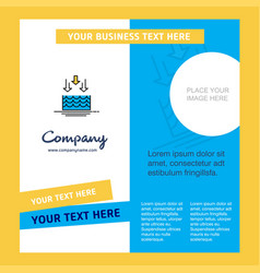 Water evaporation company brochure template vector