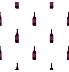 wine bottle pattern seamless vector image