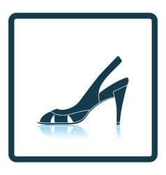 Woman heeled sandal icon vector image