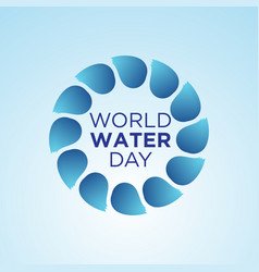 world water day simple vector image