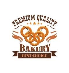 Bakery shop menu sticker emblem business label vector image vector image