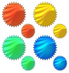 Colourful set of halogram sticker vector image vector image