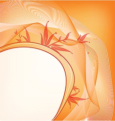 floral background with place for your text vector image vector image
