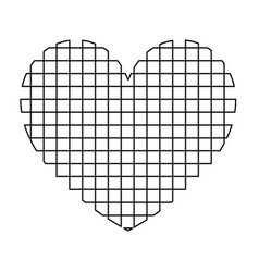 heart with square icon vector image vector image