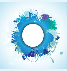 blue splash vector image