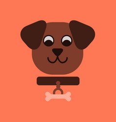 flat icon on background pet dog vector image vector image