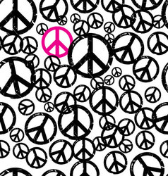 Seamless hippie background vector