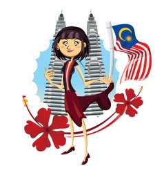 Tourism in Malaysia Truly Asia vector image vector image