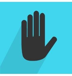 Hand Stop icon vector image vector image