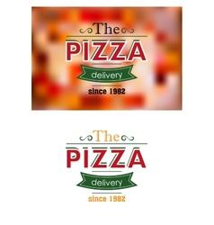 Retro pizza label or banner vector image vector image