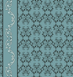 seamless floral pattern with decorative bo vector image