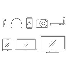 set of icons gadgets vector image vector image