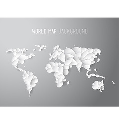 World map created of leafs with all continents and vector image