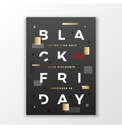 Black Friday Swiss Style Typography Poster or vector image vector image