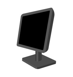 computer monitor icon in monochrome style isolated vector image