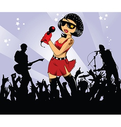 Musicians on stage vector image vector image