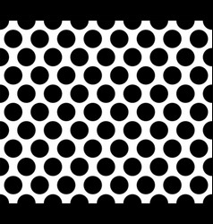 polka dot seamless pattern black background vector image