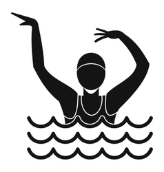 Swimmer in a swimming pool icon simple style vector image