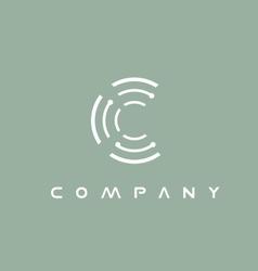 Alphabet letter C logo icon design vector