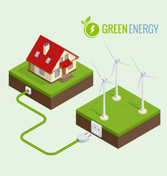 Alternative green energy or green house concept vector