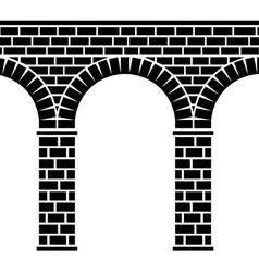 Ancient seamless stone bridge viaduct aqueduct vector