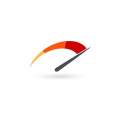 Auto speedometer or business speedometer icon vector