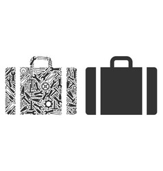 baggage collage of service tools vector image