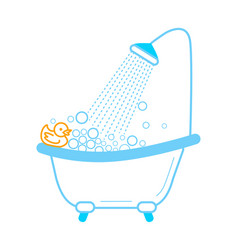 Bath duck icon inear style vector