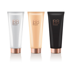 Bb cream in different color of realistic tubes vector