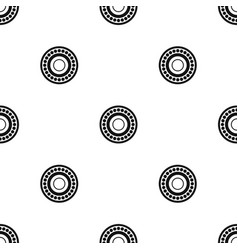 bearing pattern seamless black vector image