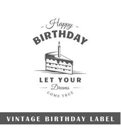 Birthday label vector