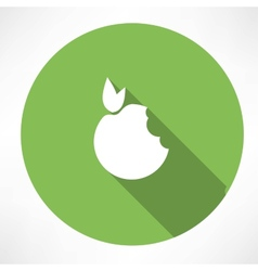 Bitten Apple Green icon vector image