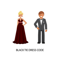 Black tie dress code vector