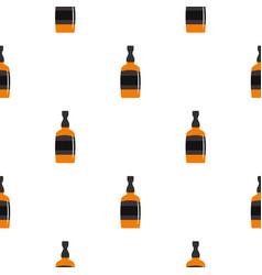 Brandy bottle pattern seamless vector