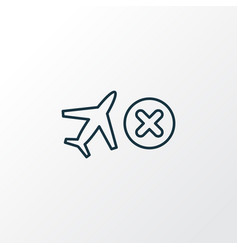 cancelled flight icon line symbol premium quality vector image