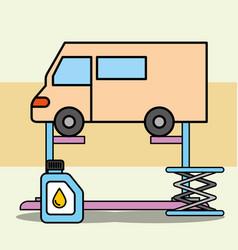 car service maintenance vector image